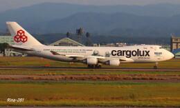 RINA-281さんが、小松空港で撮影したカーゴルクス 747-4HQF/ERの航空フォト(飛行機 写真・画像)