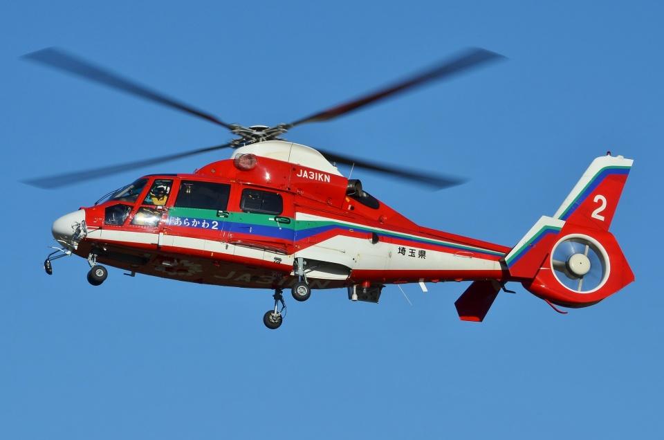 ブルーさんさんの埼玉県防災航空隊 Eurocopter AS365/565 Dauphin 2/Panther (JA31KN) 航空フォト
