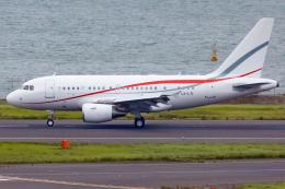 KoshiTomoさんが、羽田空港で撮影したグローバル・ジェット・ルクセンブルク A318-112 CJ Eliteの航空フォト(飛行機 写真・画像)