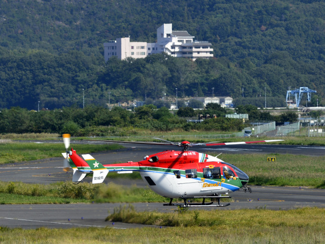Gambardierさんが、岡南飛行場で撮影した愛媛県消防防災航空隊 BK117C-2の航空フォト(飛行機 写真・画像)