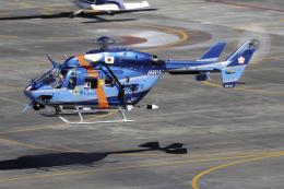 K.Sさんが、名古屋飛行場で撮影した愛知県警察 BK117C-1の航空フォト(飛行機 写真・画像)