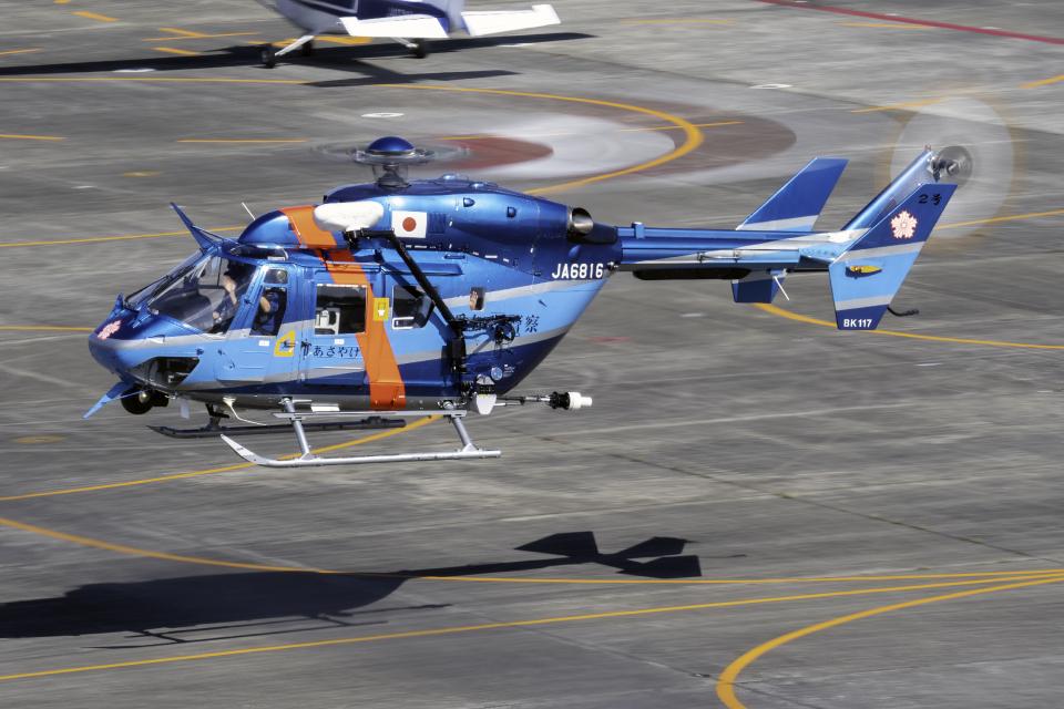 K.Sさんの愛知県警察 Kawasaki BK117 (JA6816) 航空フォト