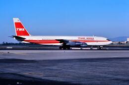 パール大山さんが、ロサンゼルス国際空港で撮影したトランス・ワールド航空 707-131Bの航空フォト(飛行機 写真・画像)