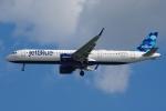 zettaishinさんが、ジェネラル・エドワード・ローレンス・ローガン国際空港で撮影したジェットブルー A321-271NXの航空フォト(飛行機 写真・画像)