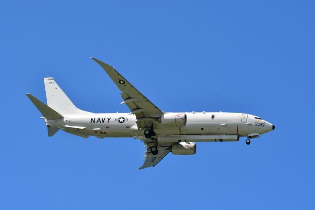 チョロ太さんが、嘉手納飛行場で撮影したアメリカ海軍 P-8A (737-8FV)の航空フォト(飛行機 写真・画像)