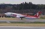 pesawat6さんが、成田国際空港で撮影したティーウェイ航空 737-8ASの航空フォト(飛行機 写真・画像)