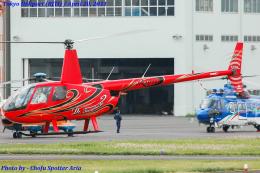 Chofu Spotter Ariaさんが、東京ヘリポートで撮影した日本個人所有 R44 Astroの航空フォト(飛行機 写真・画像)