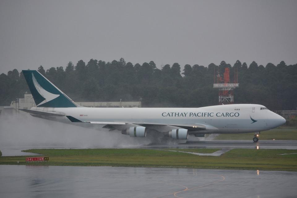 サンドバンクさんのキャセイパシフィック航空 Boeing 747-400 (B-LIC) 航空フォト