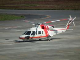 ヒコーキグモさんが、岡山空港で撮影した朝日航洋 S-76Dの航空フォト(飛行機 写真・画像)