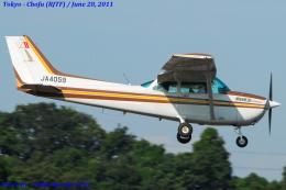 Chofu Spotter Ariaさんが、調布飛行場で撮影した日本個人所有 172P Skyhawk IIの航空フォト(飛行機 写真・画像)