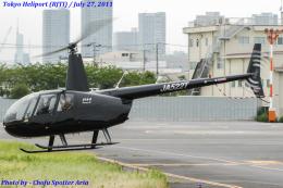 Chofu Spotter Ariaさんが、東京ヘリポートで撮影した日本個人所有 R44 IIの航空フォト(飛行機 写真・画像)