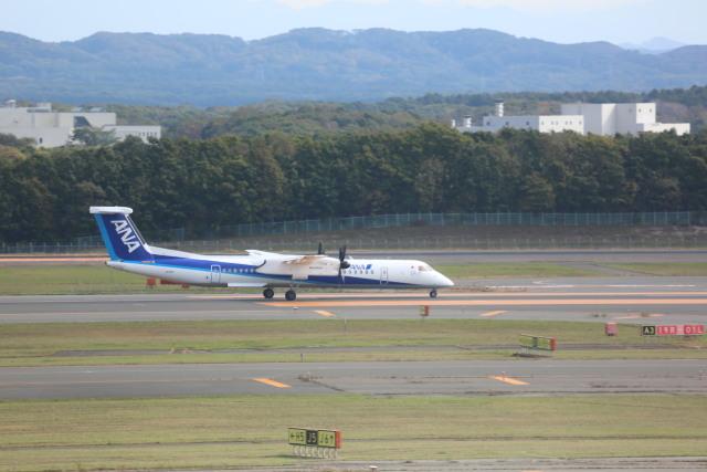 meijeanさんが、新千歳空港で撮影したANAウイングス DHC-8-402Q Dash 8の航空フォト(飛行機 写真・画像)