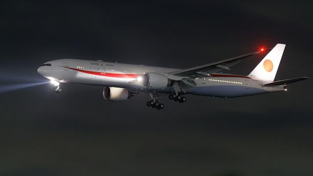 多摩川崎2Kさんが、羽田空港で撮影した航空自衛隊 777-3SB/ERの航空フォト(飛行機 写真・画像)