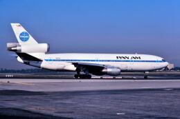 パール大山さんが、ロサンゼルス国際空港で撮影したパンアメリカン航空 DC-10-10の航空フォト(飛行機 写真・画像)