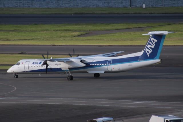 Mr.boneさんが、羽田空港で撮影したANAウイングス DHC-8-402Q Dash 8の航空フォト(飛行機 写真・画像)