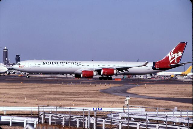キットカットさんが、成田国際空港で撮影したヴァージン・アトランティック航空 A340-642の航空フォト(飛行機 写真・画像)