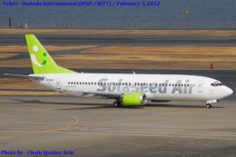 Chofu Spotter Ariaさんが、羽田空港で撮影したソラシド エア 737-4M0の航空フォト(飛行機 写真・画像)