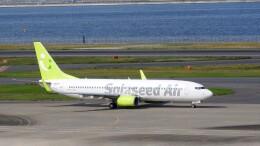 mich_stoneさんが、羽田空港で撮影したソラシド エア 737-81Dの航空フォト(飛行機 写真・画像)