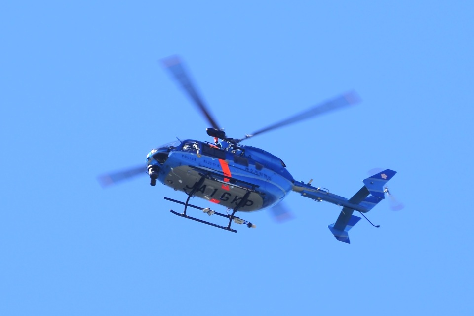 飛行機ゆうちゃんさんの神奈川県警察 Kawasaki BK117 (JA16KP) 航空フォト
