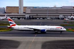 まいけるさんが、羽田空港で撮影したブリティッシュ・エアウェイズ 787-9の航空フォト(飛行機 写真・画像)