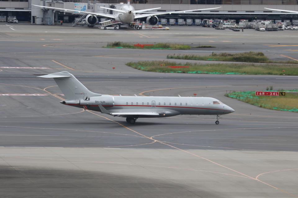 サリーちゃんのパパさんのビスタジェット Bombardier BD-700 Global Express/5000/6000 (9H-VJH) 航空フォト