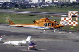 K.Sさんが、名古屋飛行場で撮影した新日本ヘリコプター 412EPの航空フォト(飛行機 写真・画像)