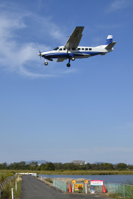 Gambardierさんが、岡南飛行場で撮影した共立航空撮影 208B Grand Caravanの航空フォト(飛行機 写真・画像)