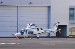 KAZFLYERさんが、東京ヘリポートで撮影したノエビア AW109SP GrandNewの航空フォト(飛行機 写真・画像)