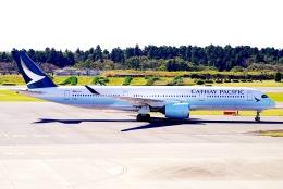 SFJ_capさんが、成田国際空港で撮影したキャセイパシフィック航空 A350-941の航空フォト(飛行機 写真・画像)