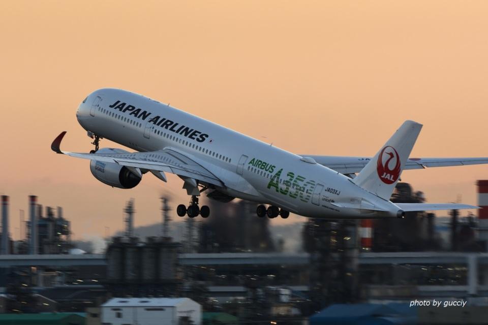 gucciyさんの日本航空 Airbus A350-900 (JA03XJ) 航空フォト