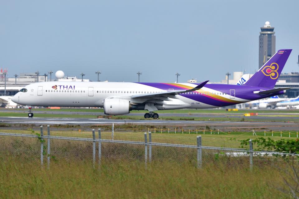 saoya_saodakeさんのタイ国際航空 Airbus A350-900 (HS-THK) 航空フォト