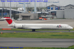 Chofu Spotter Ariaさんが、羽田空港で撮影した日本航空 MD-90-30の航空フォト(飛行機 写真・画像)