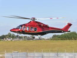 パンサーRP21さんが、朝日航洋川越メンテナンスセンターで撮影した三井物産エアロスペース AW139の航空フォト(飛行機 写真・画像)