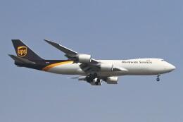 BTYUTAさんが、インディラ・ガンディー国際空港で撮影したUPS航空 747-8Fの航空フォト(飛行機 写真・画像)