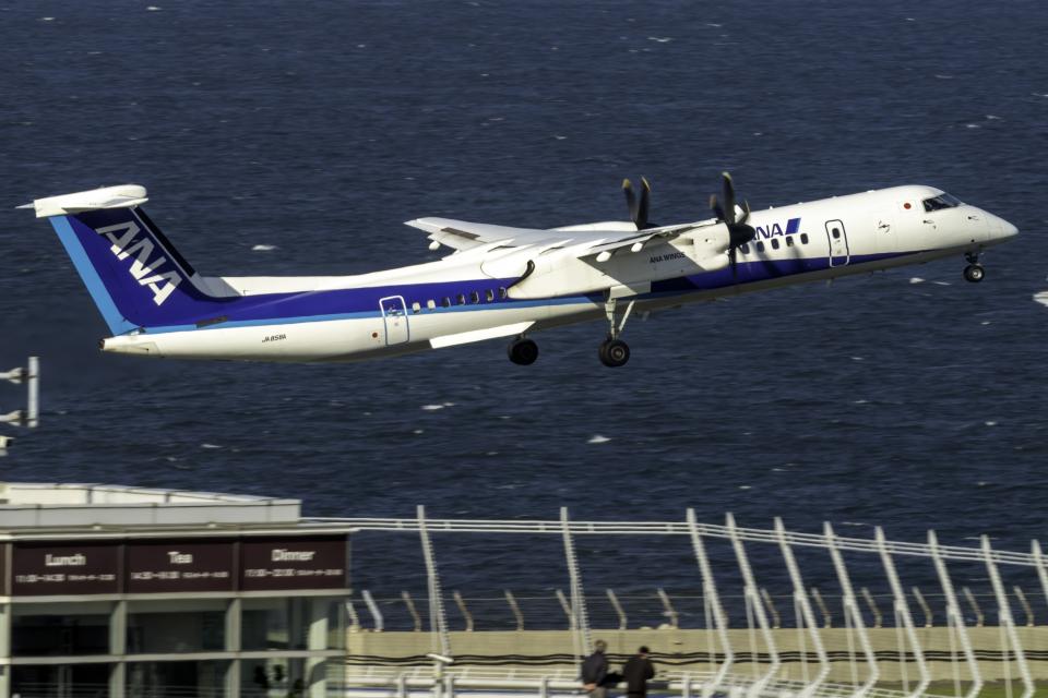 K.SさんのANAウイングス Bombardier DHC-8-400 (JA858A) 航空フォト