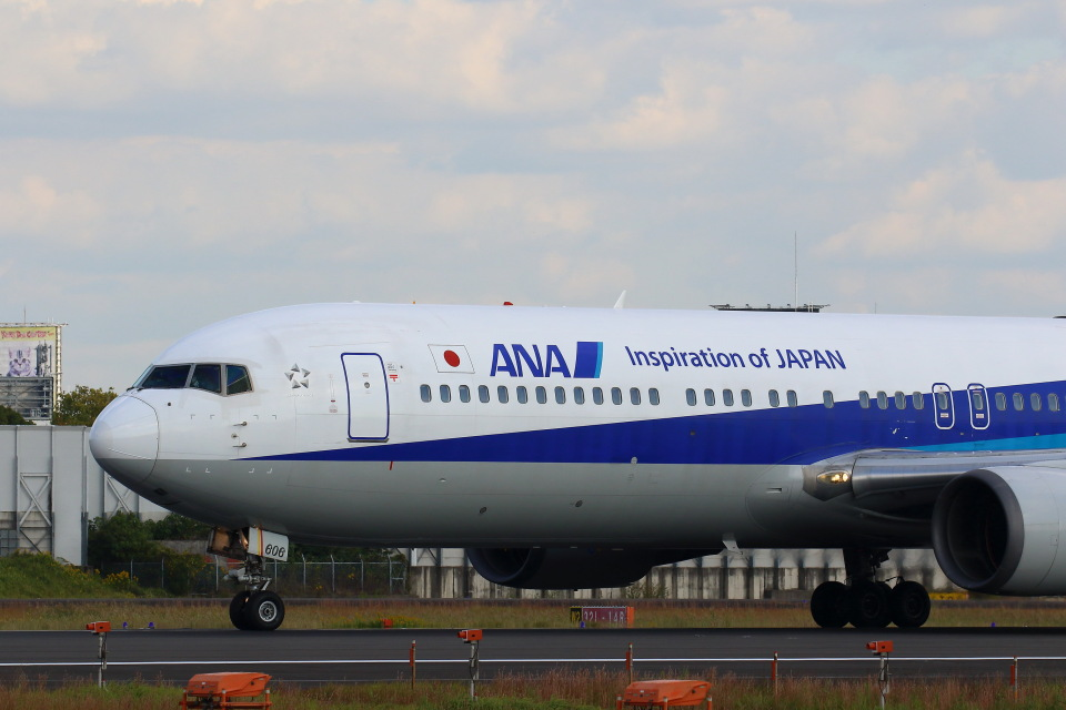 khideさんの全日空 Boeing 767-300 (JA606A) 航空フォト