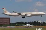 tassさんが、成田国際空港で撮影したエティハド航空 A340-541の航空フォト(飛行機 写真・画像)
