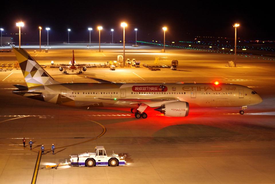 yabyanさんのエティハド航空 Boeing 787-9 (A6-BLM) 航空フォト