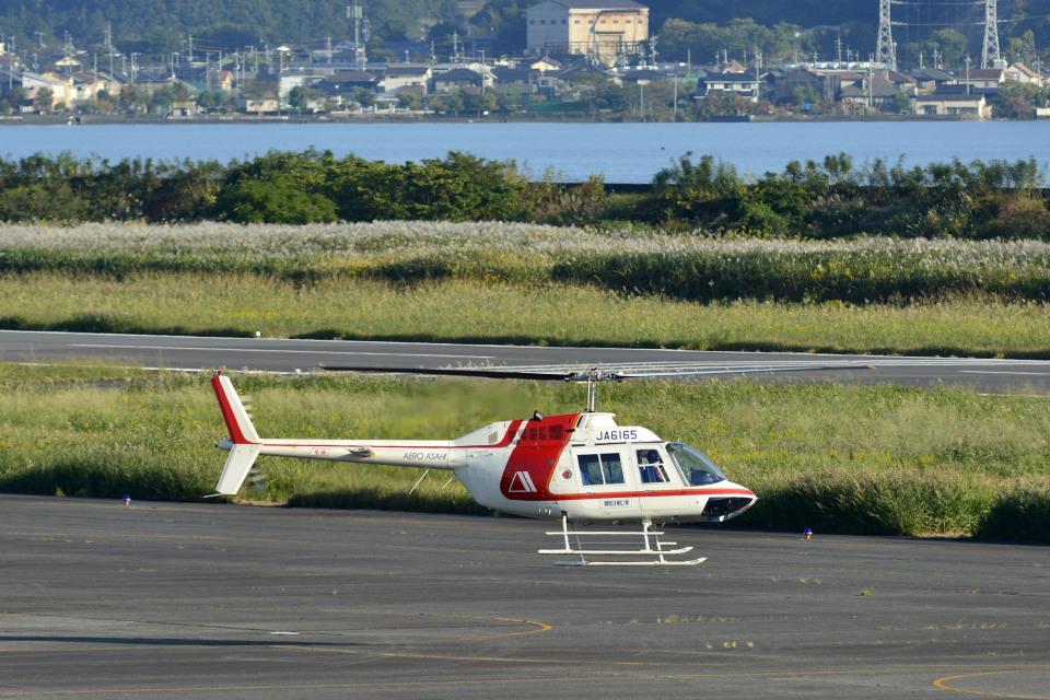 Gambardierさんの朝日航洋 Bell 206/406 (JA6165) 航空フォト