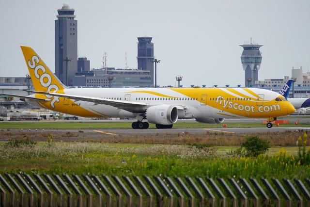 レドームさんが、成田国際空港で撮影したスクート 787-9の航空フォト(飛行機 写真・画像)