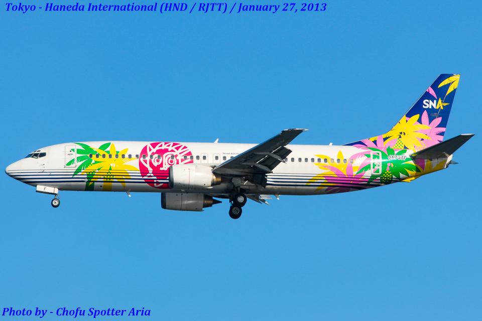 Chofu Spotter Ariaさんのスカイネットアジア航空 Boeing 737-400 (JA737F) 航空フォト