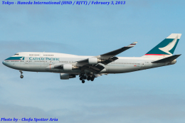 Chofu Spotter Ariaさんが、羽田空港で撮影したキャセイパシフィック航空 747-412の航空フォト(飛行機 写真・画像)