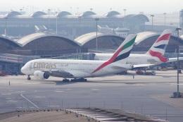 mougandouさんが、香港国際空港で撮影したエミレーツ航空 A380-861の航空フォト(飛行機 写真・画像)
