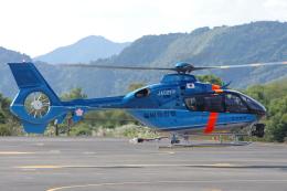ラムさんが、静岡ヘリポートで撮影した福岡県警察 EC135P2+の航空フォト(飛行機 写真・画像)