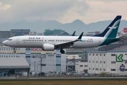 kan787allさんが、福岡空港で撮影したシルクエア 737-8-MAXの航空フォト(飛行機 写真・画像)