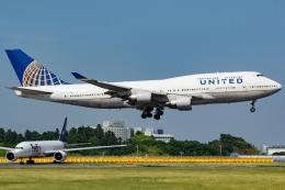 KoshiTomoさんが、成田国際空港で撮影したユナイテッド航空 747-422の航空フォト(飛行機 写真・画像)