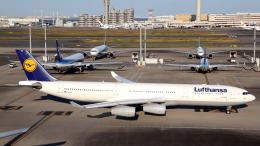 誘喜さんが、羽田空港で撮影したルフトハンザドイツ航空 A340-313Xの航空フォト(飛行機 写真・画像)