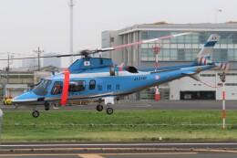 ほてるやんきーさんが、東京ヘリポートで撮影した警視庁 A109E Powerの航空フォト(飛行機 写真・画像)