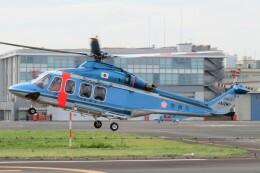 ほてるやんきーさんが、東京ヘリポートで撮影した警視庁 AW139の航空フォト(飛行機 写真・画像)