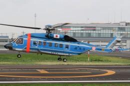 ほてるやんきーさんが、東京ヘリポートで撮影した警視庁 S-92Aの航空フォト(飛行機 写真・画像)